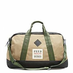 FEED Health Duffle Bag.The FEED HEALTH Duffle Bag supports DOC2DOCK, a non-profit organization that collects unused medical supplies before they are thrown out and redistributes them to hospitals in need in the developing world. For every bag purchased, FEED will donate an identical bag, which will then be filled with medical supplies by DOC2DOC and given to a community health worker to help transport the supplies around the world.  #doc2doc #feed #giftswithamission