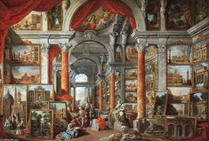 """""""Picture Gallery with Views of Modern Rome (2)"""", Oil On Canvas by Giovanni Paolo Pannini (1691-1765, Italy) en.wahooart.com900 × 609Buscar por imagen """"Picture Gallery with Views of Modern Rome (2)"""" pintora leonor fini maria felix - Buscar con Google"""