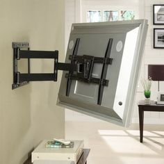 Atlantic Large Full Motion Articulating ArmSwivelTilt Wall Mount for 19 - 80 Flat Panel Screens in Black