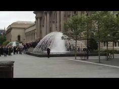 Metropolitan Museum of Art Fountain Opening via Delta Fountains (in HD) via Delta Fountains