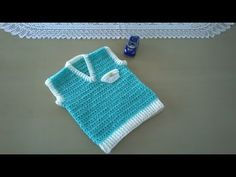 Chaleco para bebés - YouTube Crochet Baby Cocoon, Crochet Baby Clothes, Baby Blanket Crochet, Crochet Backpack, Crochet Jacket, Mochila Crochet, Pull Bebe, Crochet Bikini Bottoms, Kids Clothes Patterns