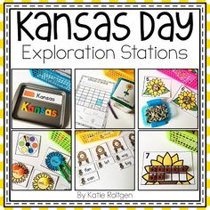 Here is a set of 12 activities that can be used for Kansas Day exploration in stations or centers. Each activity has a Kansas-related theme. There are four literacy activities, four math activities, a science activity, and three fine motor activities. These holiday and seasonal activities were designed for kindergarten and home school students. It's great for English language arts, science, and math lessons. Use for independent practice or seatwork. {kinder, ELA} January 29