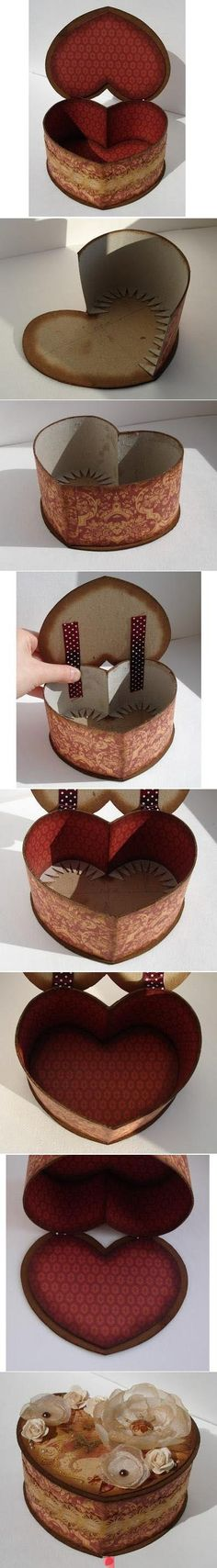 DIY Cardboard Heart Shaped Box DIY Cardboard Heart Shaped Box and Instructions! DIY Cardboard Heart Shaped Box DIY Cardboard Heart Shaped Box and Instructions! Diy Projects To Try, Craft Projects, Diy Paper, Paper Crafts, Fun Crafts, Diy And Crafts, Carton Diy, Ideias Diy, Cardboard Crafts