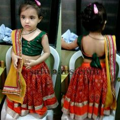 Best 12 Baby in Knot Blouse – Indian Dresses Kids Dress Wear, Kids Gown, Little Girl Dresses, Kids Wear, Baby Dresses, Kids Indian Wear, Kids Ethnic Wear, Kids Blouse Designs, Choli Designs