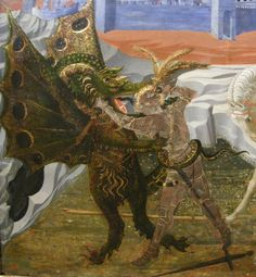 deathandmysticism:    Paolo Uccello, Detail of St. George and the Dragon, ca. 1431
