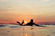 sunset surf time - this pic is perfect with the sun's position!