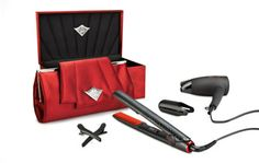 GHD Scarlet deluxe collection set with stlyer and dryer. At HQ hair. Cheap Fashion, New Fashion, Vintage Fashion, Vintage Style, Ghd Hair Straightener, Makeup Supplies, Its My Bday, Gowns Of Elegance, Chic