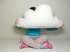 FLUFFY CLOUD PILLOW Cushion White Faux Sheepskin Fleece rain cloud soft and fluffy - baby nursery childrens room home decoration