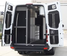 07+ Sprinter Van Rear Door Stuff Bag Kit - Rear Door Stuff Bags  * Designed for use with our Aluminum Door Panels     * Made from extrememly durable sail cloth & heavy duty netting