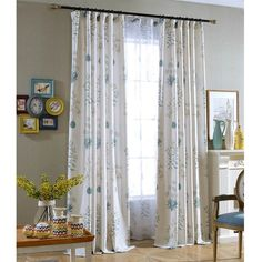 The leaf white drapes are crisp nice, well printed well sewn. the curtains are not creased and hang nicely, perfect for blackout decor. The pattern adds some blue and green color to your room. Fancy Curtains, Floor To Ceiling Curtains, Leaf Curtains, Dining Room Curtains, Modern Curtains, Curtains For Sale, White Curtains, Country Style Curtains, Blue Leaves
