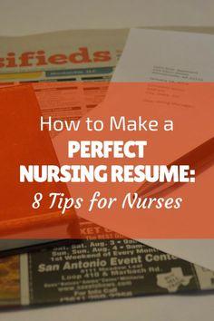 how to make a nursing school resume
