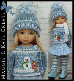 """Winter Outfit 1 for Little Darlings Dianna Effner 13"""" by Maggie Kate Create 