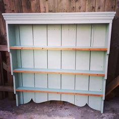 Victorian Pitch Pine Plate rack painted with Flagon by Crown Period colours   www.mariposasfurniture.co.uk
