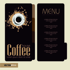 El men elegante cafeter a precio tabla de vectores for Coffee price list template