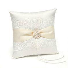 Splendid Elegance Ring Pillow Ring Bearer Pillows, Ring Pillows, Ring Pillow Wedding, Wedding Pillows, Tiffany Wedding Rings, Lace Ring, Cushion Ring, Wedding Accessories, Satin Sash