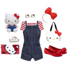 """Hello Kitty's Clothes"" by lexy214882 on Polyvore. Weird but pinning it anyway"