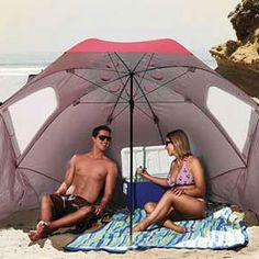 Stay cool and dry this summer with the sportbrella. Sets up quickly and keeps out sun and rain.