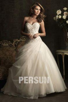 Herz-Ausschnitt wedding dress- persunshop.de