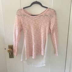 Pink and white open back YA top Extremely comfortable, cute with a sexy edge. Only worn a few times Ya Los Angeles Tops Blouses