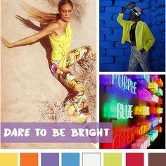 #DesignOptions SS18 color report on #WeConnectFashion, Women's markets mood: Dare To Be Bright.