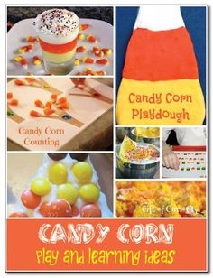 Candy corn play and learning ideas from the weekly kids co-op #Halloween || Gift of Curiosity