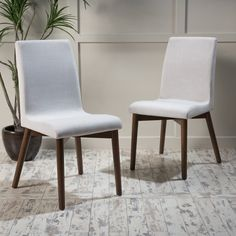 Christopher Knight Home Orrin Mid-Century Fabric Dining Chair (Set of 2)