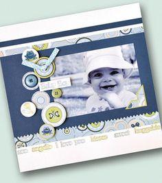 Baby Boy Scrapbook Page: Scrapbooking Projects: Shop   Joann.com