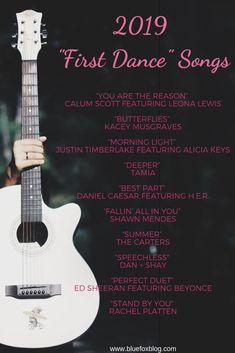 2019 First Dance Wedding Songs.