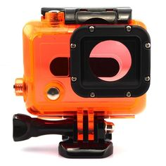 Orange+Waterproof+Dive+Housing+Case+Skeleton+W/+Lens+For+Gopro+Hero+3+3++4+Camera+db