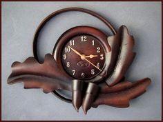 Hey, I found this really awesome Etsy listing at https://www.etsy.com/listing/212354242/handmade-leather-wall-clock-rrp-aud