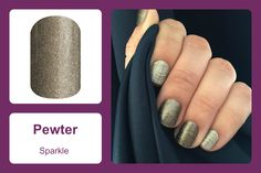 'Pewter' not only offers the perfect amount of sparkle, but is the perfect shade of warm gold for a fancy and casual combo all in one wrap. #bevsjamminnails https://bkimball.jamberry.com/us/en/shop/products/pewter#.VxfAdfkrJQI