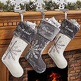 Personalized Christmas Stocking Wintertime Wishes