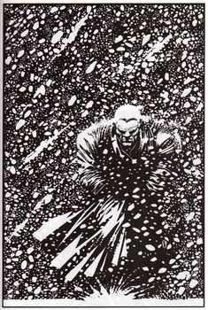 Marv by Frank miller. I've always visualised Donald E Westlake's 'Parker' as looking like this - 6ft 2 and 260lbs of I don't give a shit.