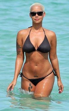 black peta female fur models | Amber Rose Black String Bikini Sexy 150x150 Amber Rose In Black String ...