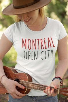 Montreal Open City - Ladies' Scoopneck T-Shirt Printed by TeeBrandco on Etsy 30 And Single, Montreal, Printed Shirts, Scoop Neck, Stylish, City, Tees, Sleeves, Prints