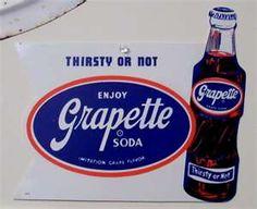 Grapette was the best sweet grape soda.