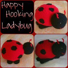 """Crochet Amigurumi Lady Bug $15"" #Amigurumi  #crochet"