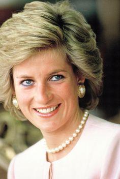 Princess Diana in pearls