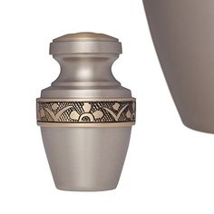 Funeral Urn by Liliane  Small Keepsake Urn Fits a Small Amount of Remains  Cremation Urn to Share a Small Amount of Human Ashes as Well as the ashes of dogs cats or other pets  Display Keepsake Burial Urn at Home or in Niche at Columbarium  DAnvers Model Pewter  Silver *** This is an Amazon Affiliate link. More info could be found at the image url.