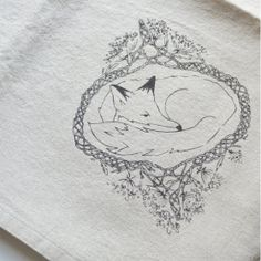 Collaborative art, design and thoughtfully made goods handmade in Prince Edward County, Canada by Leanne Shea Rhem and Zac Kenny. Collaborative Art, Linen Napkins, Silk Screen Printing, Made Goods, Printed Cotton, Fox, Prints, Handmade, Etsy
