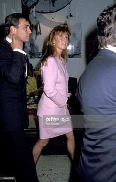 --June 5,1990--Prince Andrew and Sarah Ferguson Duchess of York during Grand Opening Reception For Jaguar Cars Inc. of Mahwah New Jersey at Barney's in New York City, New York, United States.