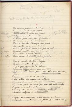 fac-simile de página do caderno manuscrito de «O Guardador de Rebanhos» © Biblioteca Nacional.