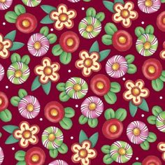 TRIMMING the TREE-by the half yard by QT fabrics- Mary Engelbreit- Christmas-candy flowers on black- Christmas Flowers, Christmas Fabric, Christmas Candy, Christmas Decor, Cotton Crafts, Fabric Crafts, Red Fabric, Cotton Fabric, Mary Engelbreit Fabric