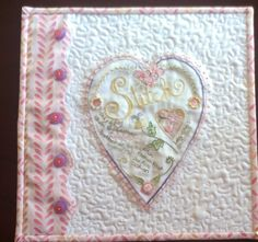 My Mini Quilt of Crabapple Hill's Stitch Heart Sampler