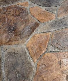 grey and red stamped flagstone concrete - Google Search