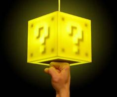 Add some Super Mario style lighting to your home with these 8-Bit question block lamps. These geeky gamer lamps are touch sensitive, so you'll need to punch it from the bottom to activate it just like in the Super Mario series, and it makes a classic 8-bit noise when hit.