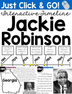 Click HERE to watch a FREE, video preview of the Interactive Timeline!  Included in this pack is an interactive PowerPoint of Jackie Robinsons life.  In order to use this product, you must have Microsoft PowerPoint installed on the computer.   This PowerPoint is perfect for whole group lesson reviewing the life of Jackie Robinson.