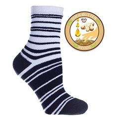 MinxNY  Double Layer Striped Fuzzy Slipper Sock With Shea Butter InfusionBlack >>> Check out this great product by click affiliate link Amazon.com