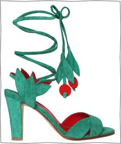 Ossie Clark by Manolo Blahnik (1971) - reedited for Le Printemps in 2012