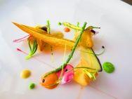 Amuse bouche fagottini - Le Nuvole restaurant - Suvereto, Tuscany - Chef Timothy Magee
